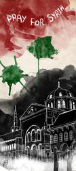 Pray for Syria by zArtandDesign