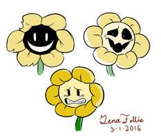 Some Flowey Doodles by KitkatzSnatcher
