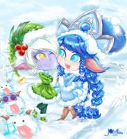 Elf Tristana and Winter Wonder Lulu aww by JamilSC11