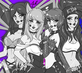 League of Girls KDA by JamilSC11