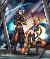 Odyssey Kayn and Jinx by JamilSC11