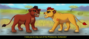 Lion Guard: Kovu and Kion by Velvet-Loz