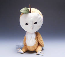 Apple Owl Spirit Doll Sit Cid by kaijumama