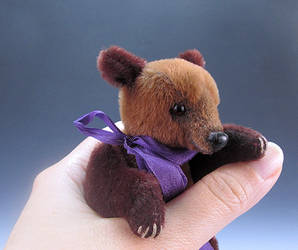 Miniature Jointed Grizzly Bear Cub by kaijumama