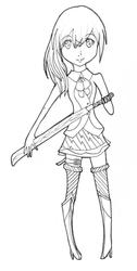 Ready for Battle -lineart- by TamazakiMichiko