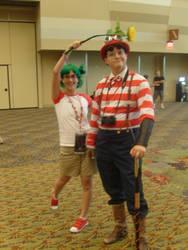 Yotsuba and Steampunk Waldo by tohru-honda44