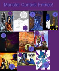 Monster Contest Entries by NightCrawlerClub