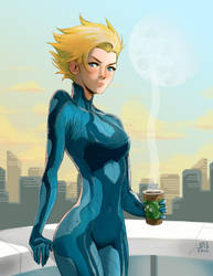 Samus on a Break by Bryeguy