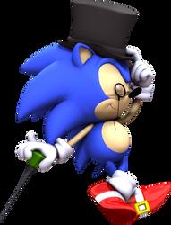 Classy Classic Sonic by Luigimariogmod