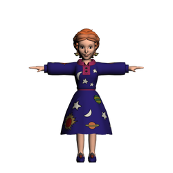 Ms. Frizzle 3d Model by Luigimariogmod