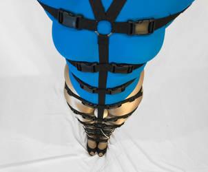 Self Bondage Pole Tie by bondagewebbing