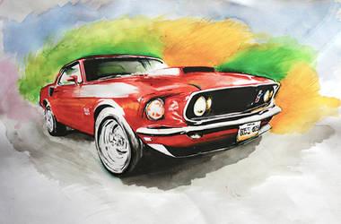 Mustang 69 BOSS 429 by memougler