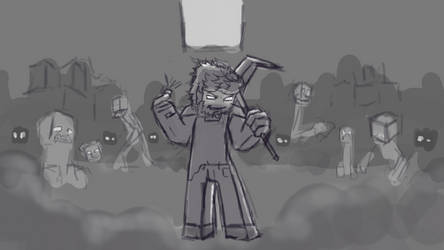 Sketch Example (FT. Herobrine) by CocoKiCKZ