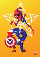 Captain America N Spider-man by Minds-Edge