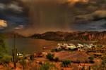 Monsoon over Saguaro Lake-HDR by roginaz