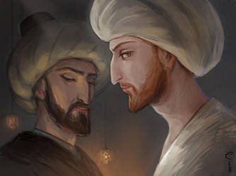 Fatih Sultan Mehmed and Ahmed Pasha by Elveo