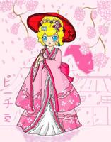 kimono peach by ninpeachlover