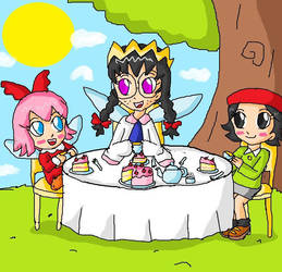 tea with the fairies by ninpeachlover