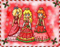 christmas royal ball attires by ninpeachlover