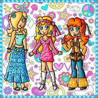 princesses hippies by ninpeachlover