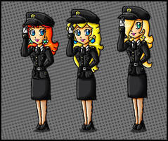 Hong Kong Police princesses by ninpeachlover