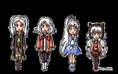 White Hair Girls by ninpeachlover