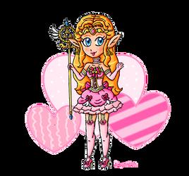 Magical girl Zelda by ninpeachlover