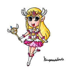 Magical girl Toon Zelda by ninpeachlover