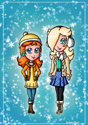Winter Daisy and Rosalina by ninpeachlover