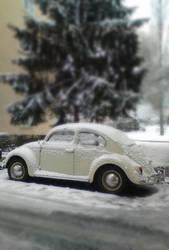 Toy Beetle in Winter Wonderland by RYDEEN-05-2