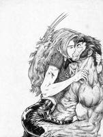 Jean and Logan - X-Men by EmeraldAbsynth