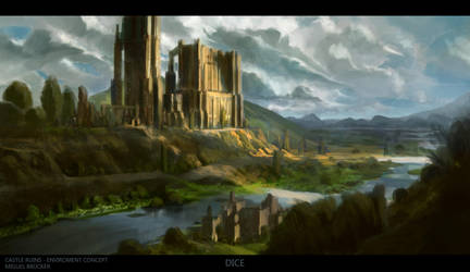 Castle Ruins Concept by DiceArtist