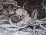 Octopus drawing by BikerDA