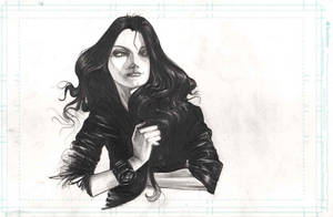 Girl in Leather Jacket by matches23