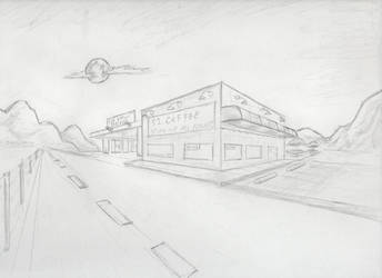 10 Diner Two Point Perspective by raaky-draws