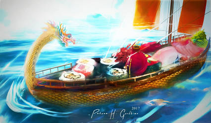 The Sushi Boat by PalomaGouthier
