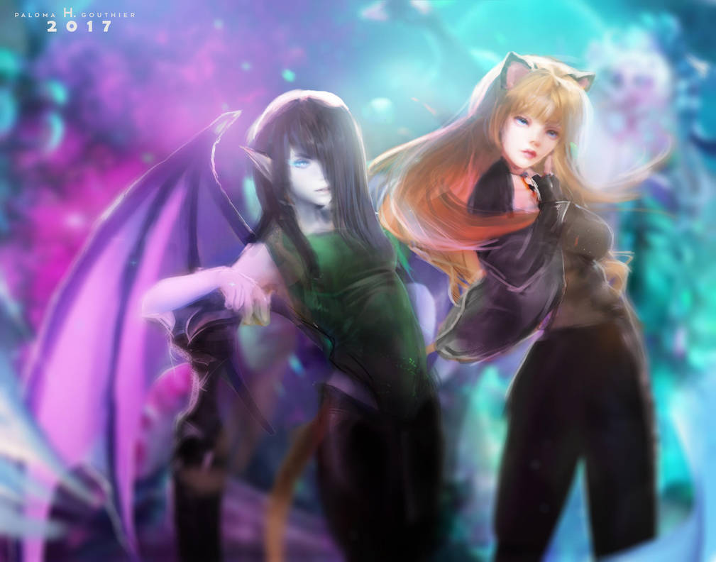 Syluna and Octavia by PalomaGouthier