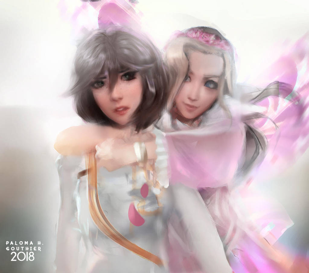 Aerie and Olive by PalomaGouthier