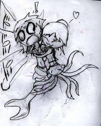 Octomaid hug by Yurichild