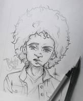 Sucka! - Sketch Drawing by punchyone