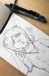 Noodle-ish - Gorillaz - Drawing by punchyone