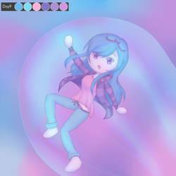Huevember Day 9: Pastel dream (nightmare) by tashaj4de