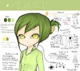 Maru reference sheet by DeShaylo
