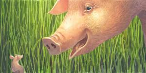 The wee piglet by CharlotteHintzmann