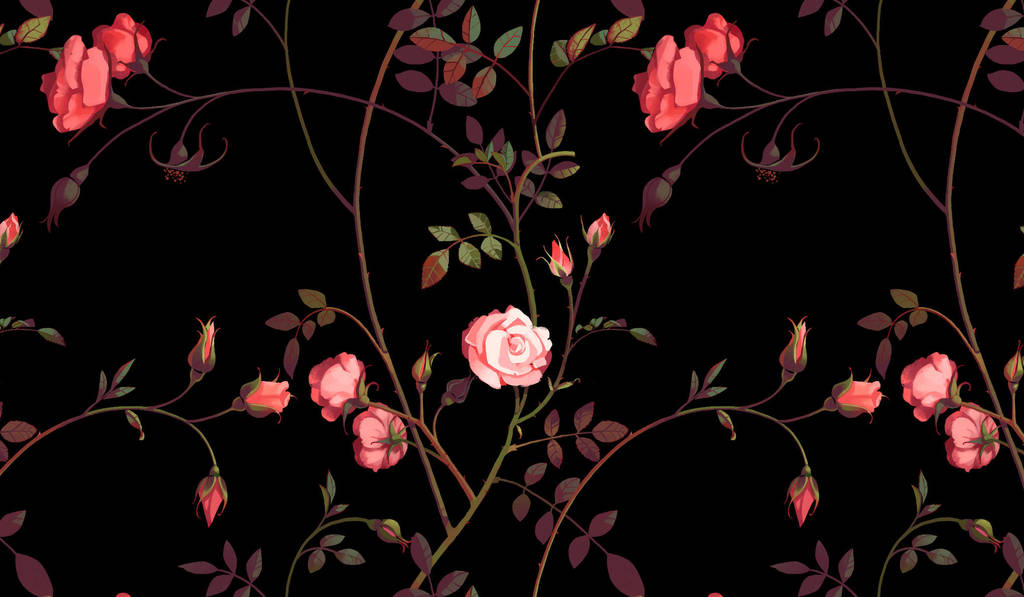 Rose Pattern by CharlotteHintzmann