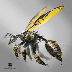 wasp mech - SOLD! by psdeluxe