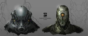Sci-fi Helmets by psdeluxe