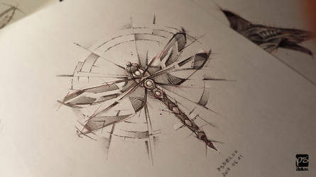 Dragonfly Sketch Psdelux by psdeluxe