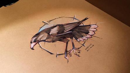 20170608 Wild Bird Sketch Psdelux by psdeluxe