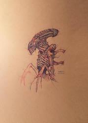 Alien Xenomorph Psdelux by psdeluxe
